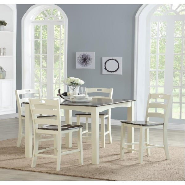 Brook 5 Piece Counter Height Dining Set Intended For Bettencourt 3 Piece Counter Height Dining Sets (View 24 of 25)