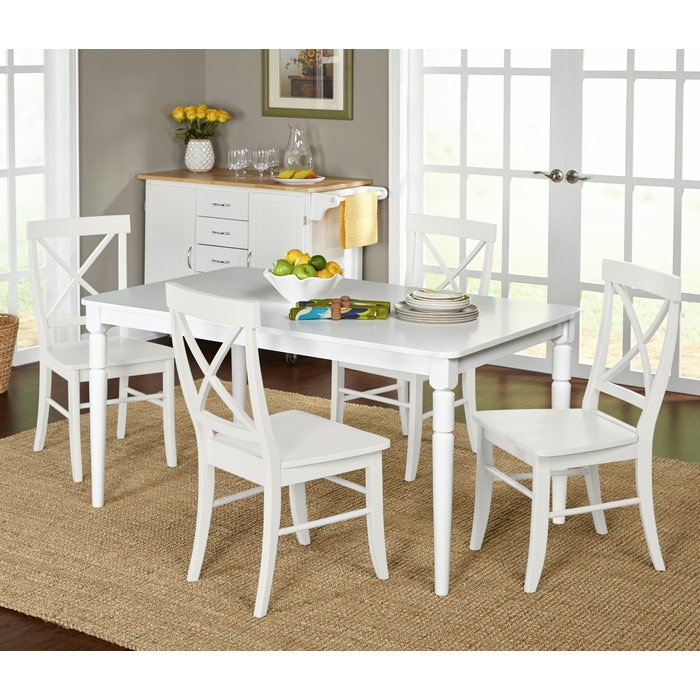 Brookwood 5 Piece Dining Set Throughout Linette 5 Piece Dining Table Sets (Image 4 of 25)