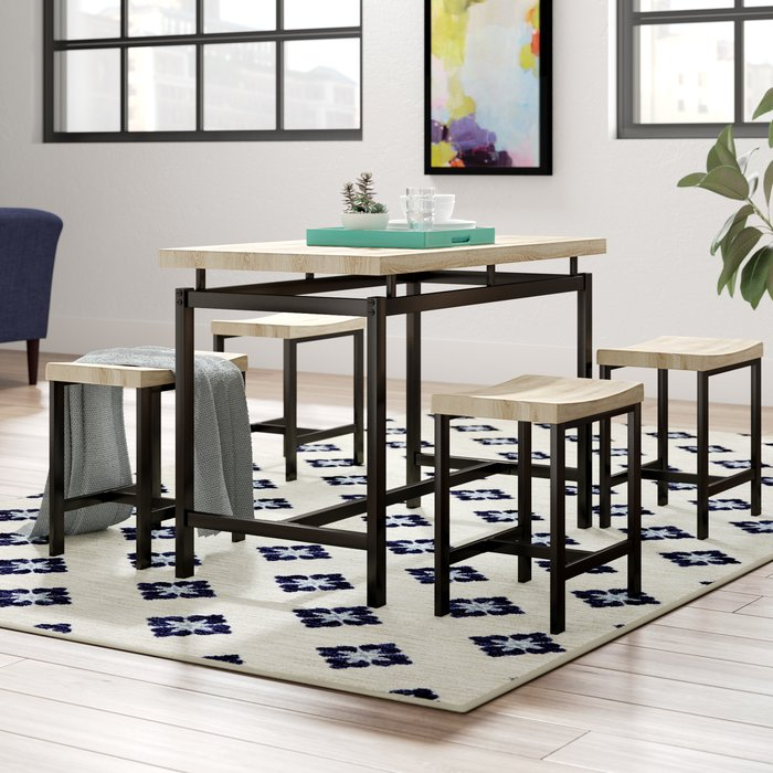 Bryson 5 Piece Dining Set Intended For Bryson 5 Piece Dining Sets (View 3 of 25)