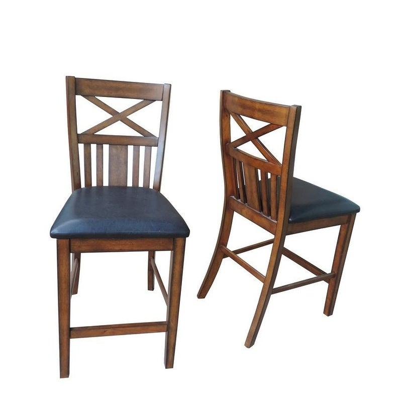 Bryson Cherry Brown Counter Height Dining Table Set W/ Storage For Bryson 5 Piece Dining Sets (View 6 of 25)