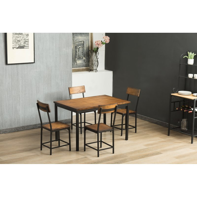 Bushman 5 Piece Dining Set Inside Travon 5 Piece Dining Sets (Image 1 of 25)