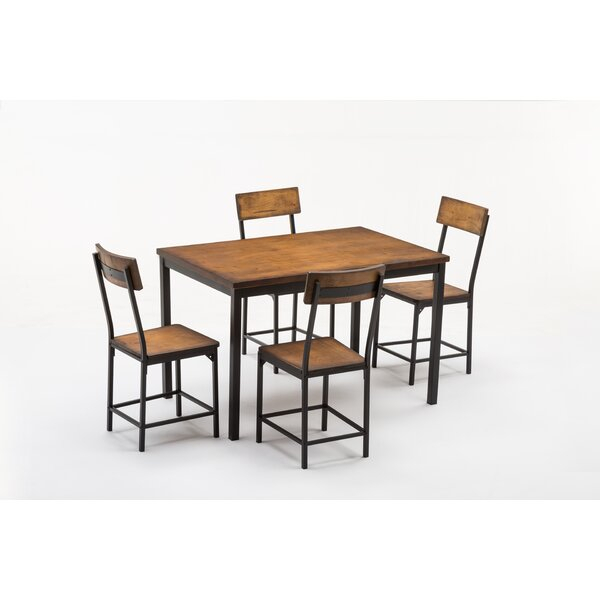 Bushman 5 Piece Dining Set Throughout Travon 5 Piece Dining Sets (Image 2 of 25)