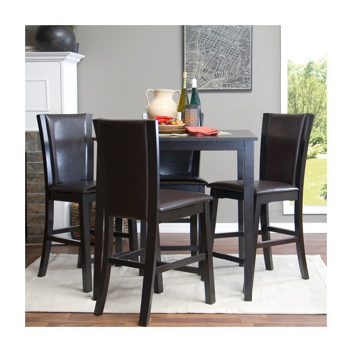 Calla 5 Piece Counter Height Dining Set Pertaining To Calla 5 Piece Dining Sets (Image 4 of 25)