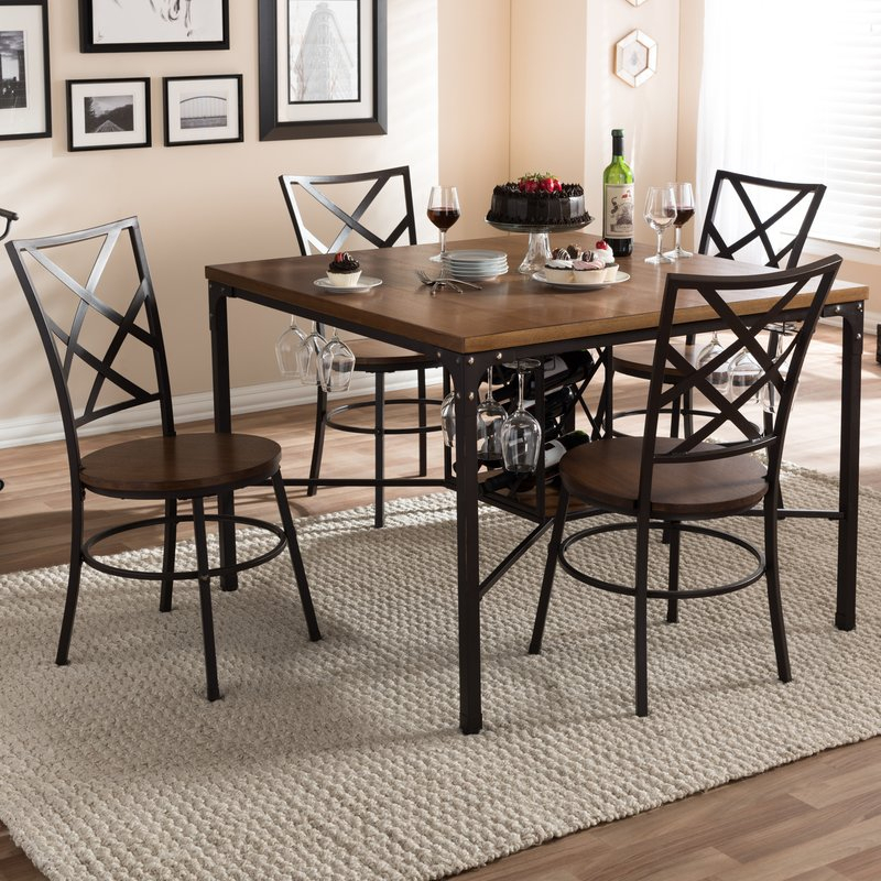 Calla 5 Piece Dining Set Inside Calla 5 Piece Dining Sets (Image 8 of 25)