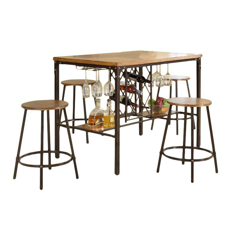 Calla 5 Piece Pub Table Set In 2019 | Apartment | Pub Table Sets With Calla 5 Piece Dining Sets (Image 16 of 25)