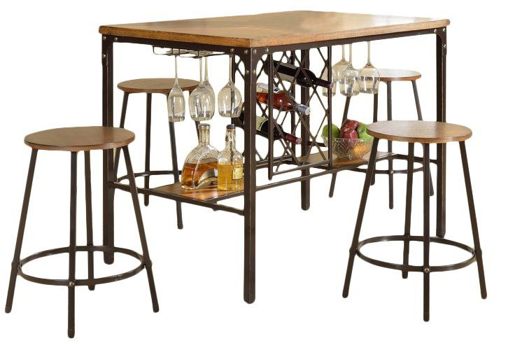 Calla 5 Piece Pub Table Set | Kitchen Stuff | Pub Set, Pub Table Intended For Calla 5 Piece Dining Sets (Image 15 of 25)