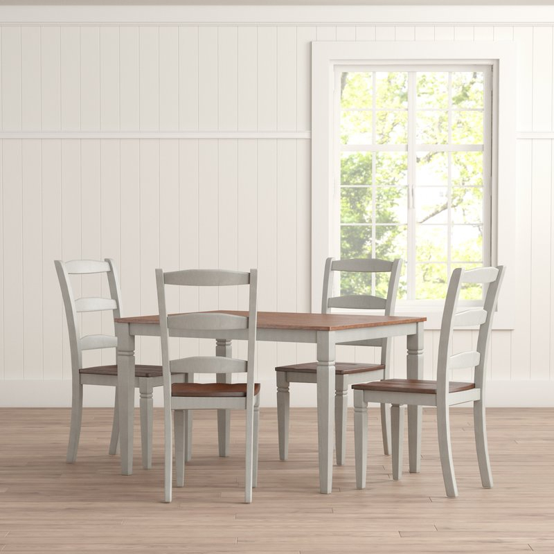 Cambridgeport 5 Piece Dining Set In 5 Piece Dining Sets (Image 6 of 25)