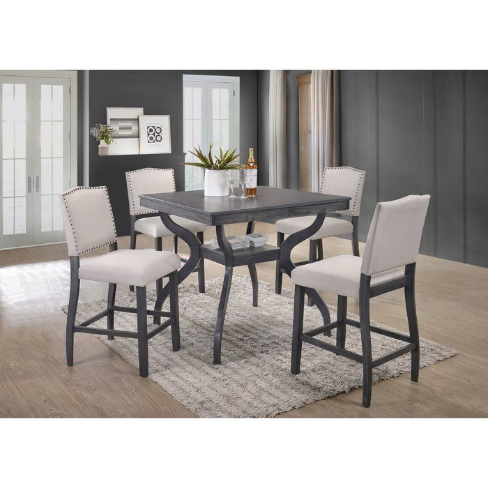Campton 5 Piece Counter Height Dining Set In 2019 | Dining Room Within Rossiter 3 Piece Dining Sets (Image 6 of 25)