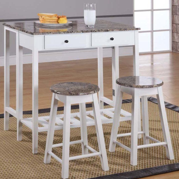 Cardwell Breakfast 3 Piece Dining Table Set In 2019 | Furniture For Crownover 3 Piece Bar Table Sets (Image 8 of 25)