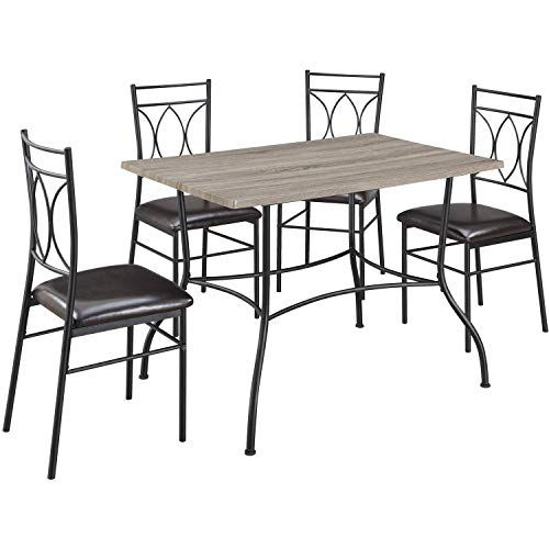 Care 4 Home Llc 5 Piece Dining Set With Table And 4 Metal Padded Regarding Casiano 5 Piece Dining Sets (View 7 of 25)