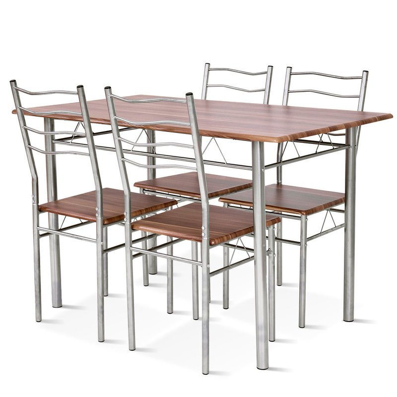 Casiano 5 Piece Dining Set Pertaining To Stouferberg 5 Piece Dining Sets (View 20 of 25)
