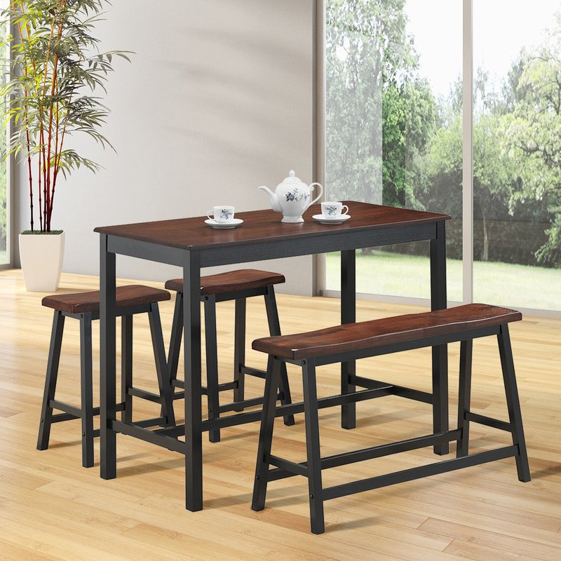 Castillo 4 Piece Breakfast Nook Dining Set Within Kerley 4 Piece Dining Sets (View 23 of 25)