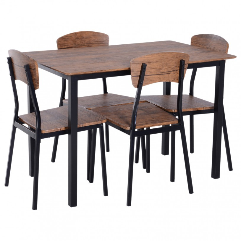Chair: Wondrous Kitchen Table And Chair Sets With Sophisticated For Evellen 5 Piece Solid Wood Dining Sets (Set Of 5) (View 15 of 25)