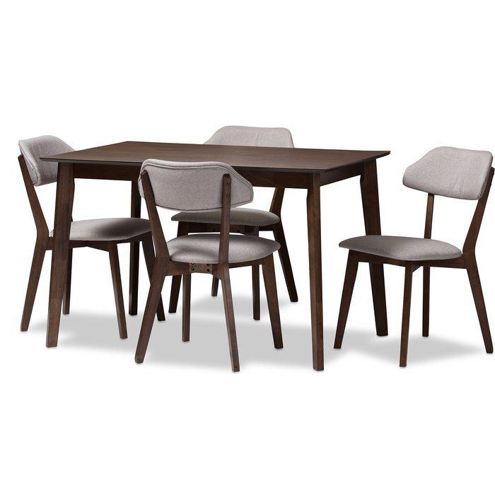 Chapdelaine Upholstered 5 Piece Dining Set | Purchase | 5 Piece With Regard To Telauges 5 Piece Dining Sets (View 12 of 25)