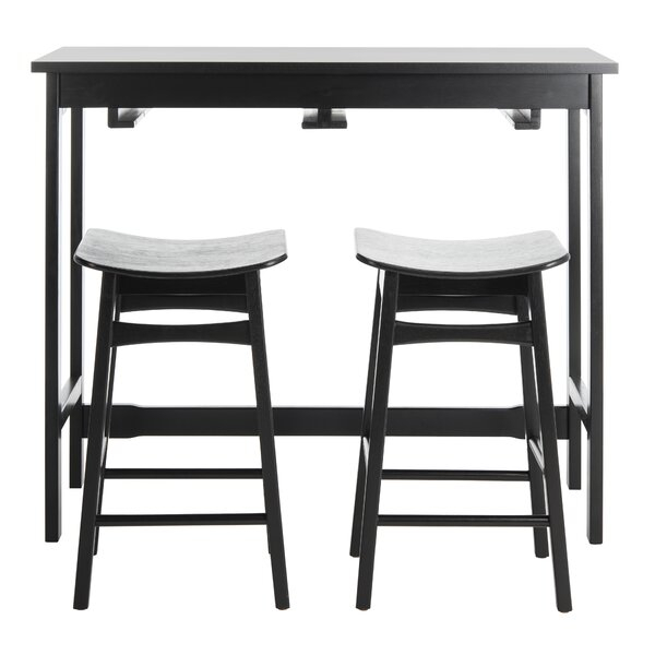 Chaska 3 Piece Pub Table Setebern Designs Spacial Price Inside Partin 3 Piece Dining Sets (Image 6 of 25)