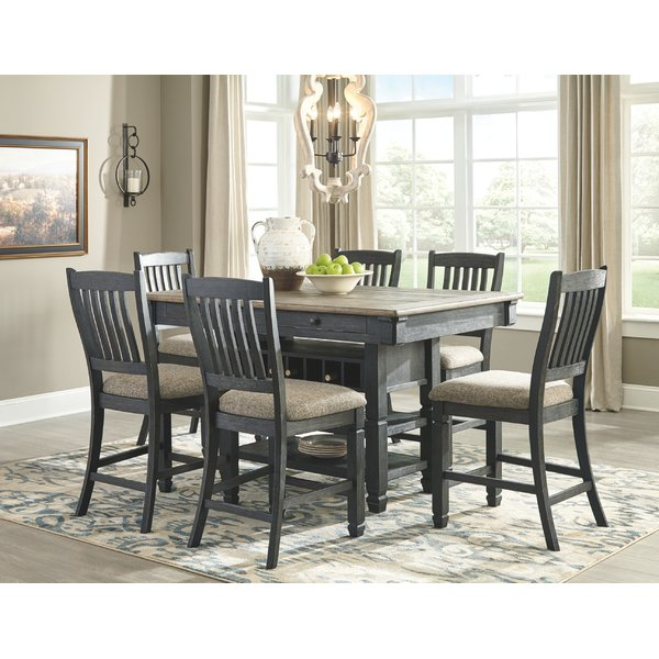 Cheap Alise 7 Piece Wood Dining Setlark Manor Wonderful Regarding Laconia 7 Pieces Solid Wood Dining Sets (Set Of 7) (View 19 of 25)