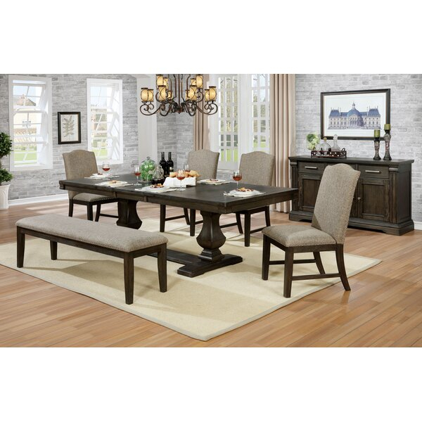Cheap Johannes 6 Piece Extendable Dining Setgracie Oaks No intended for John 4 Piece Dining Sets