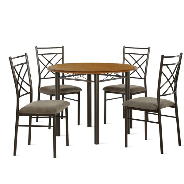 Cheap Mckenzie 9 Piece Extendable Dining Setaugust Grove With Presson 3 Piece Counter Height Dining Sets (Image 4 of 25)