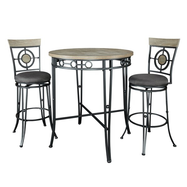 Cheap Partin 3 Piece Dining Setwilliston Forge Discount Within Partin 3 Piece Dining Sets (View 18 of 25)