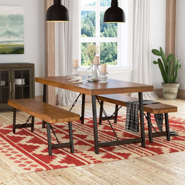 Cheap Renken 3 Piece Dining Setloon Peak No Copoun | Kitchen Throughout Goodman 5 Piece Solid Wood Dining Sets (Set Of 5) (View 15 of 25)