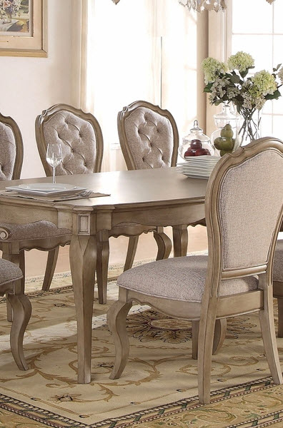 Chelmsford Antique Taupe Dining Chair Set Of 2 Within Chelmsford 3 Piece Dining Sets (Image 7 of 25)
