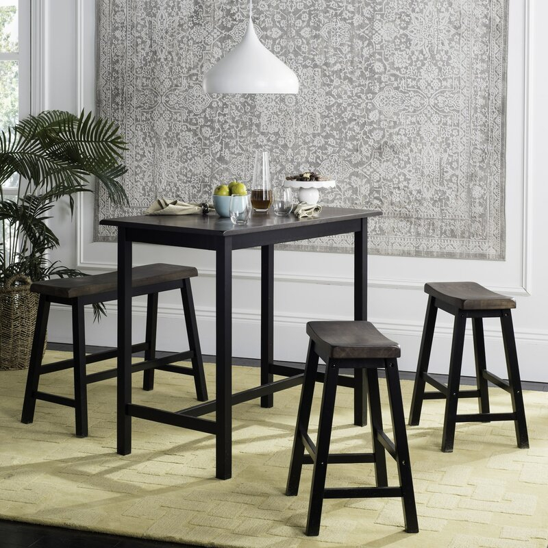 Chelsey 4 Piece Dining Set Regarding Winsted 4 Piece Counter Height Dining Sets (Image 7 of 25)