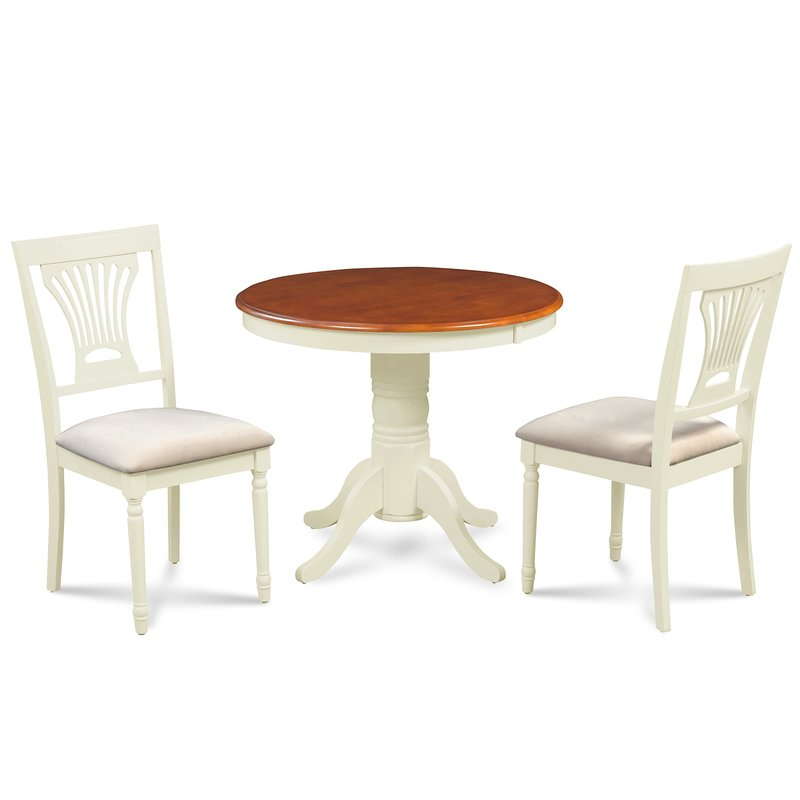 Chesterton 3 Piece Drop Leaf Solid Wood Dining Set With Regard To West Hill Family Table 3 Piece Dining Sets (View 8 of 25)