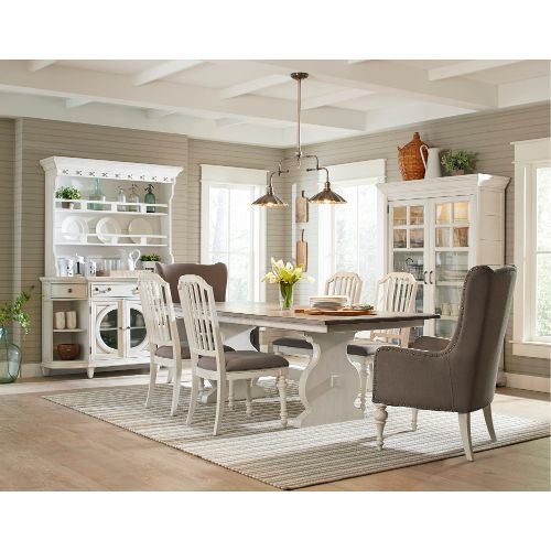 Clearance 5 Piece Dining Set – Hancock Park White And Weathered Oak Regarding Mulvey 5 Piece Dining Sets (View 10 of 25)
