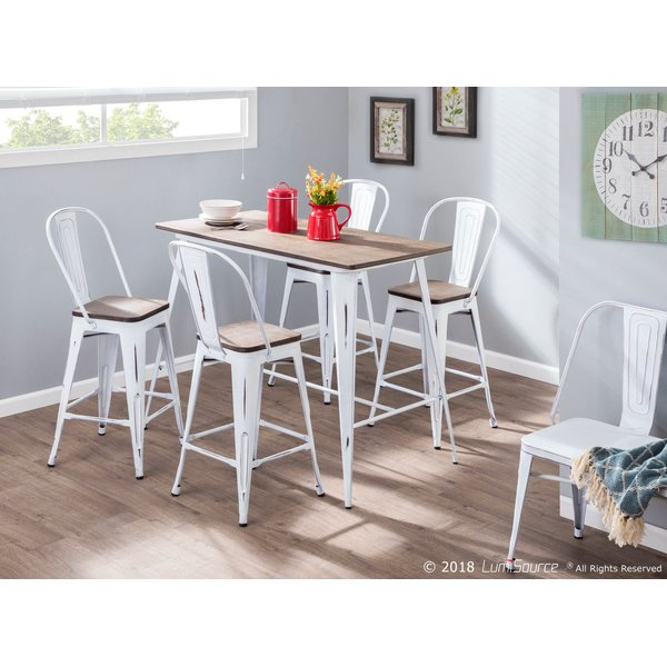 Clennell 6 Piece Pub Table Setgracie Oaks Comparison | Kitchen Pertaining To Askern 3 Piece Counter Height Dining Sets (Set Of 3) (View 13 of 25)