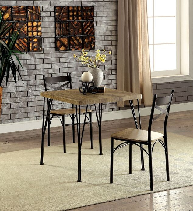 Cm3279T 29 3Pk 3 Pc Slingsby Industrial Style Weathered Finish Wood With Middleport 5 Piece Dining Sets (View 21 of 25)