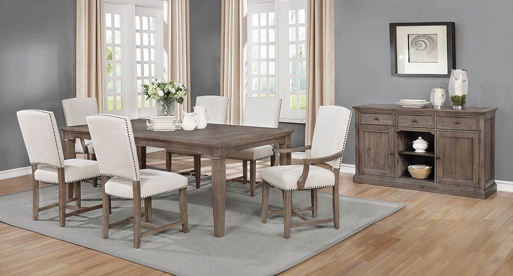 Coaster Penelope Island Khaki Extendable Dining Room Set – Penelope Intended For Penelope 3 Piece Counter Height Wood Dining Sets (Image 2 of 25)