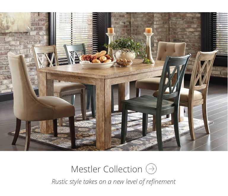 Collectionsashley Homestore | Ashley Furniture Homestore For Falmer 3 Piece Solid Wood Dining Sets (Image 3 of 25)