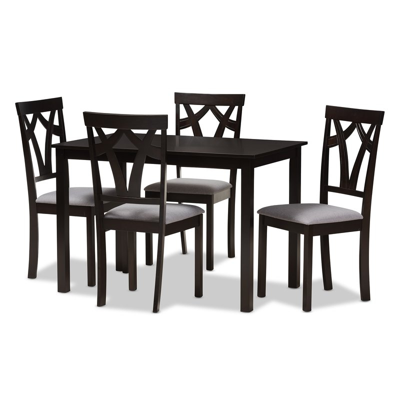 Commodore Singh Modern And Contemporary 5 Piece Breakfast Nook Dining Set Inside 5 Piece Breakfast Nook Dining Sets (Image 11 of 25)
