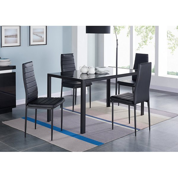 Compact 5 Piece Dining Set Intended For Linette 5 Piece Dining Table Sets (Image 5 of 25)