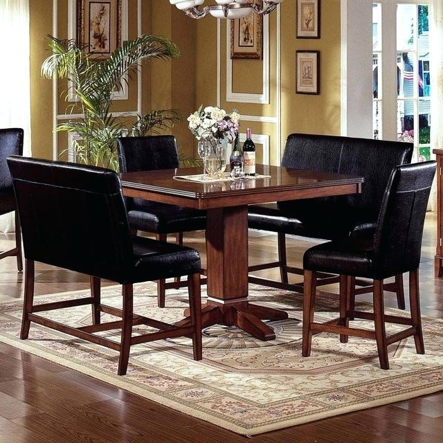 Counter Height Breakfast Nook 7 Piece Dining Set Kitchen Table Pertaining To Mysliwiec 5 Piece Counter Height Breakfast Nook Dining Sets (View 25 of 25)