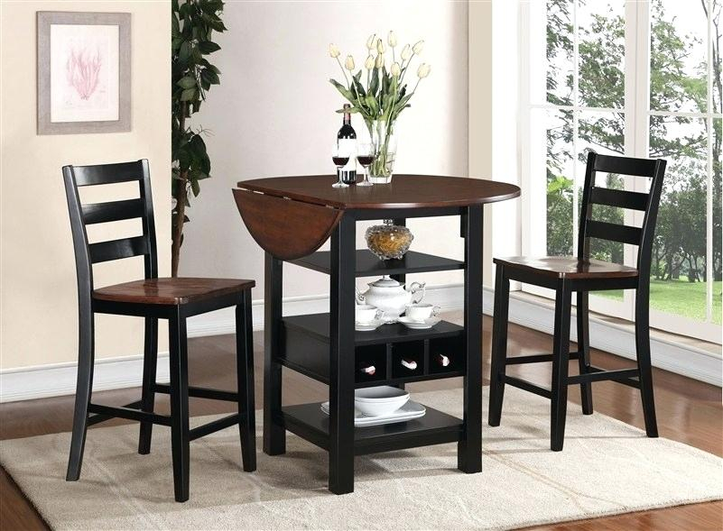 Counter Height Dining Table With Leaf – Mahalinails Intended For Winsome 3 Piece Counter Height Dining Sets (View 25 of 25)