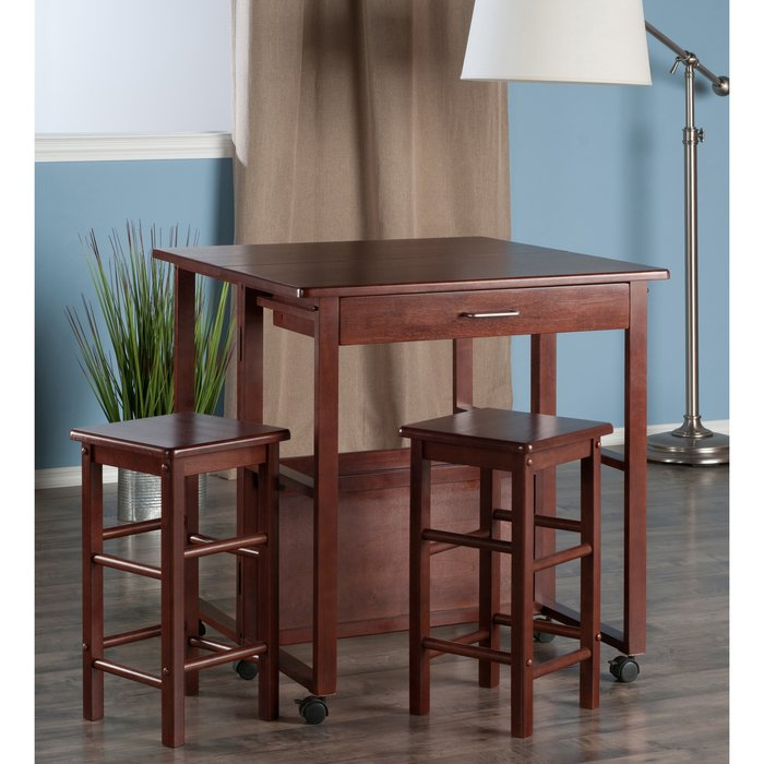 Crownover 3 Piece Bar Table Set Intended For Crownover 3 Piece Bar Table Sets (Image 13 of 25)