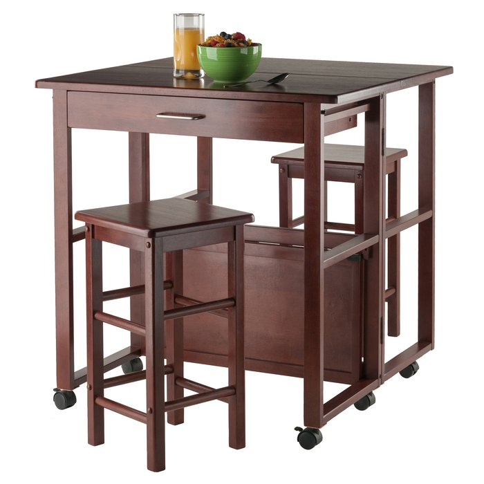 Crownover 3 Piece Bar Table Set Pertaining To Crownover 3 Piece Bar Table Sets (Image 14 of 25)