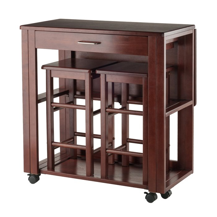 Crownover 3 Piece Bar Table Set Throughout Crownover 3 Piece Bar Table Sets (Image 17 of 25)