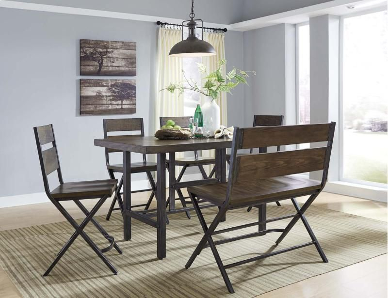 D469D2 Inashley Furniture In Kirksville, Mo - Kavara - Medium in Tavarez 5 Piece Dining Sets