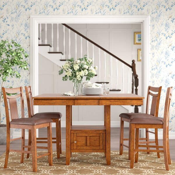 Dahlonega 5 Piece Counter Height Extendable Dining Setcharlton For Tejeda 5 Piece Dining Sets (View 7 of 25)