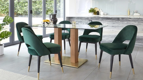 Danetti | Contemporary Furniture, Dining Tables And Chairs inside North Reading 5 Piece Dining Table Sets