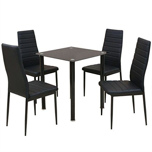 Daonanba Modern Style Dining Set Durable Stable Table Set Home Decor With Sundberg 5 Piece Solid Wood Dining Sets (Image 11 of 25)