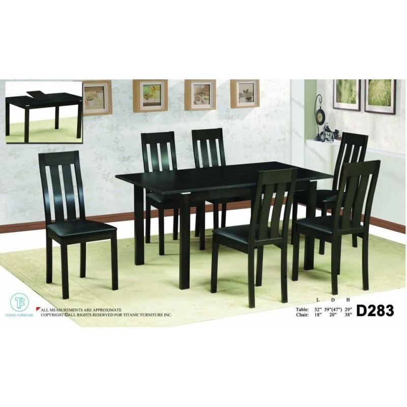 Dark Brown 5 Piece Dinette Set Pertaining To Calla 5 Piece Dining Sets (Image 17 of 25)