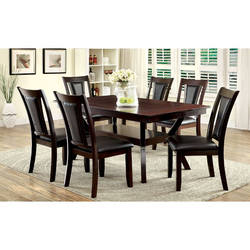 Dark Cherry 5 Piece Dining Set - Brent | Rc Willey Furniture Store throughout 5 Piece Dining Sets