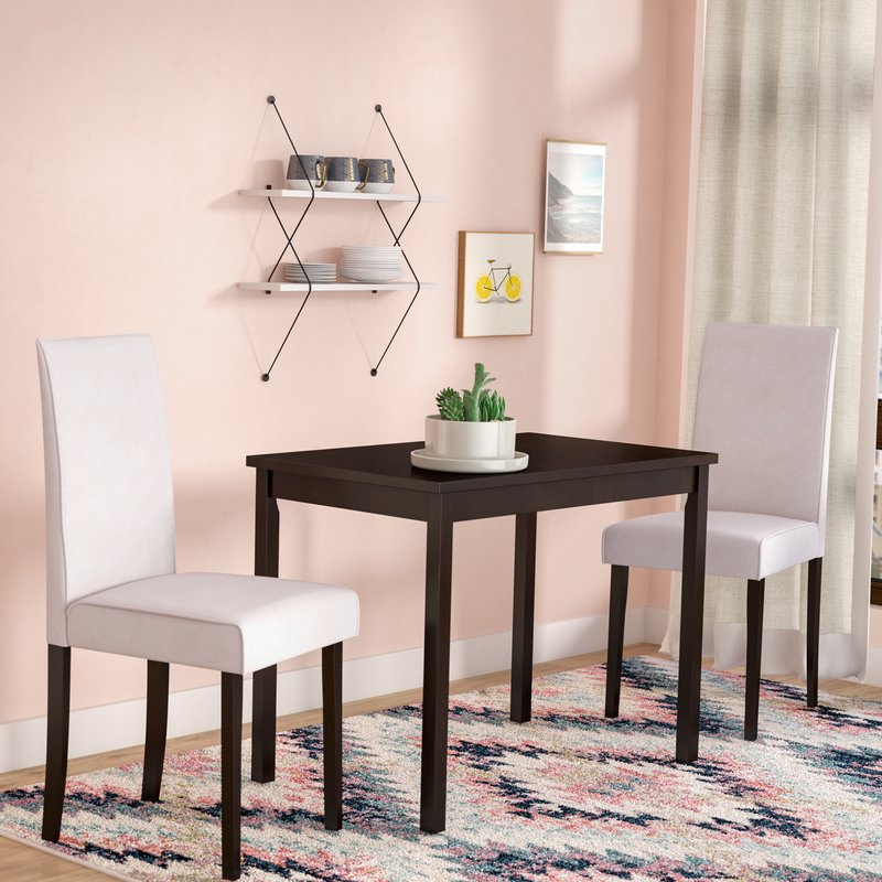 Darvell 3 Piece Dining Set Pertaining To Baillie 3 Piece Dining Sets (View 7 of 25)