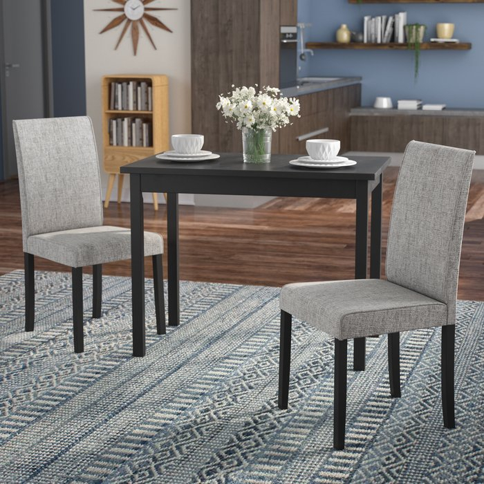 Darvell 3 Piece Dining Set Regarding Baillie 3 Piece Dining Sets (View 6 of 25)
