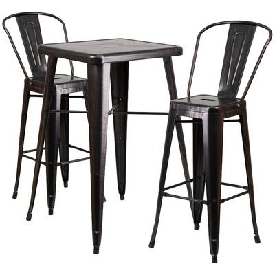 Davidson 3 Piece Pub Table Set & Reviews | Joss & Main With Regard To Askern 3 Piece Counter Height Dining Sets (Set Of 3) (View 25 of 25)