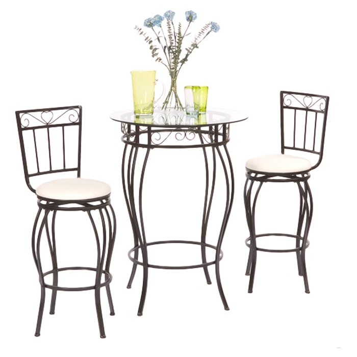 Davidson 3 Piece Pub Table Set Within Askern 3 Piece Counter Height Dining Sets (Set Of 3) (View 23 of 25)