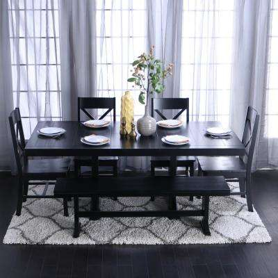 Del Mar Ebony 5 Pc Round Dining Set Room Sets Black With Ideas 6 In Delmar 5 Piece Dining Sets (View 24 of 25)